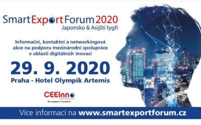 Smart Export Fórum 2020 se bude konat 29.9. 2020 v Praze